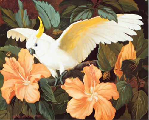 Buy Cockatoo Bird Hibiscus Cross Stitch Pattern LOOK at AtomicMall.com