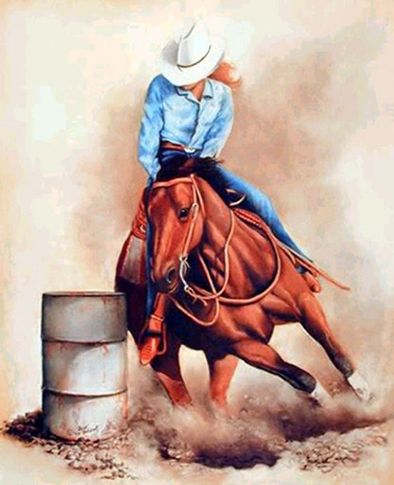 BarreL Racing Horse Cross Stitch Pattern LOOK