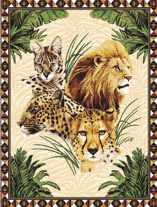 Big Cats Cross Stitch Pattern LOOK