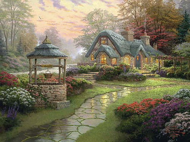 Thomas Kinkade Make A Wish Cottage Cross Stitch Pattern LOOK