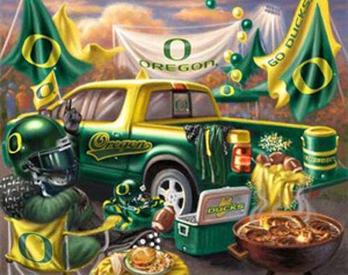 Buy Oregon Ducks TaiLgate Cross Stitch Pattern LOOK at AtomicMall.com