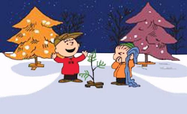 CharLie Brown & Linus Christmas Tree Cross Stitch Pattern LOOK