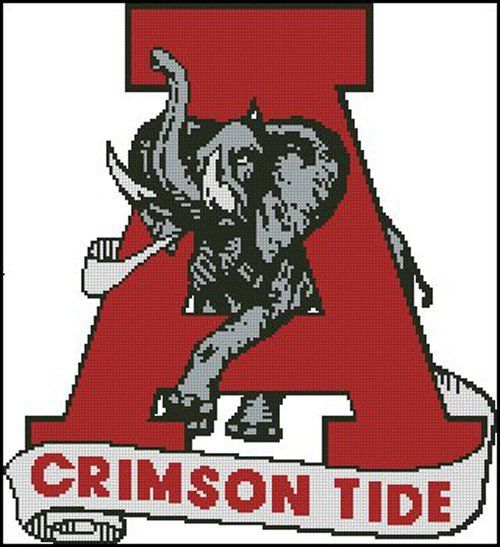 ALabama Crimson Tide FootBaLL Cross Stitch Pattern LOOK
