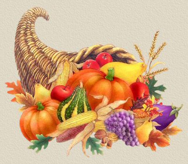 A Thanksgiving Horn Of PLenty Cross Stitch Pattern LOOK