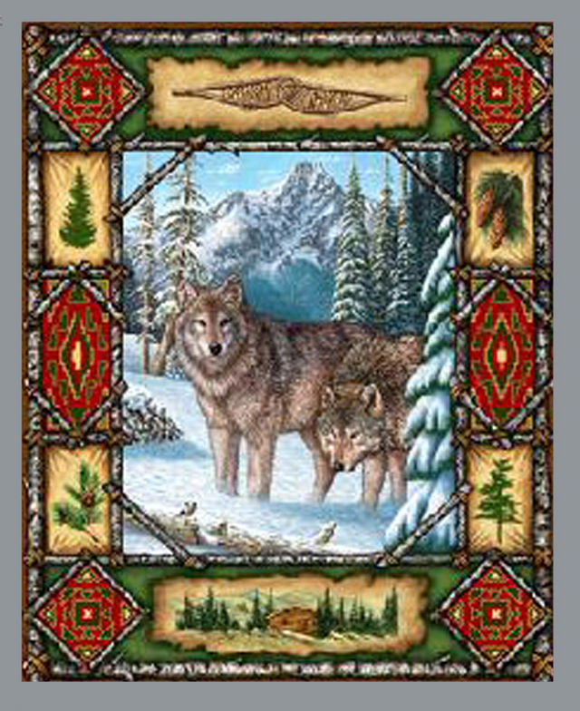 WoLf Lodge Cross Stitch Pattern LOOK