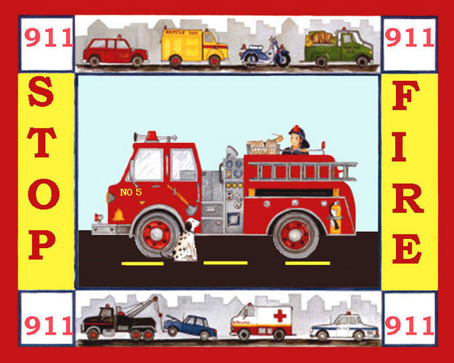 Buy Fire Engine NO 5 Truck Cross Stitch Pattern LOOK at AtomicMall.com