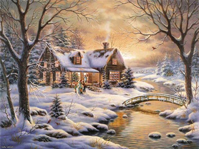 Buy Thomas Kinkade River Cabin Cross Stitch Pattern L@@K~~ at AtomicMall.com