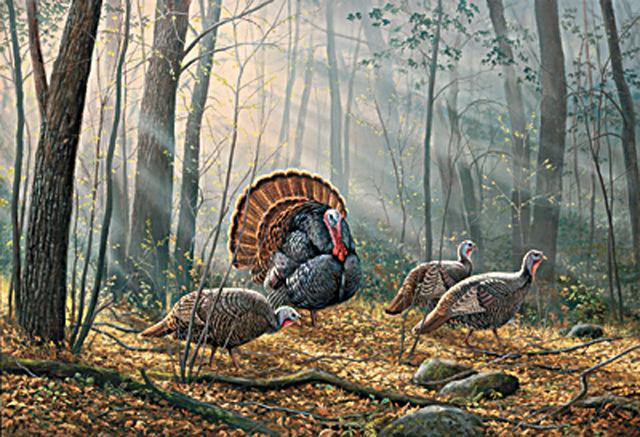 Woodland Wild Turkey Cross Stitch Pattern DOWNLOAD