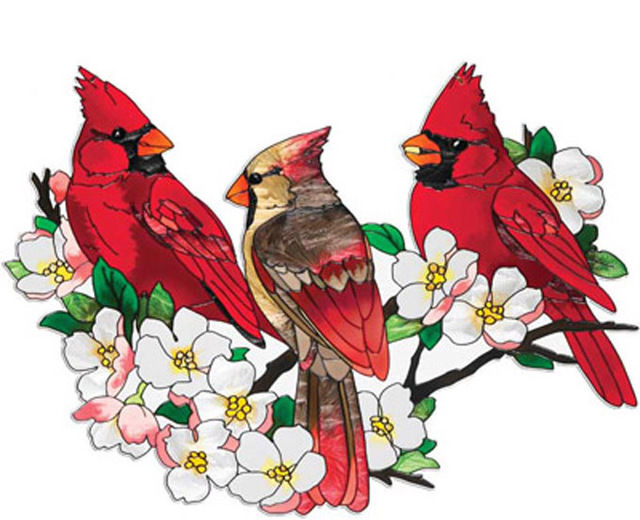 Cardinals In DogWood Tree Cross Stitch Pattern LOOK