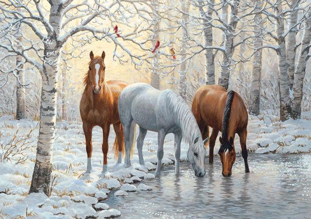 Buy HORSES Wild Winter Trio Cross Stitch Pattern L@@K~~ I SEND WORLD-WIDE ~~Free~~ at AtomicMall.com
