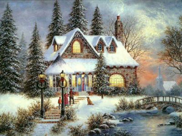 Buy Thomas kinkade Grandmas House Cross Stitch Pattern L@@K at AtomicMall.com