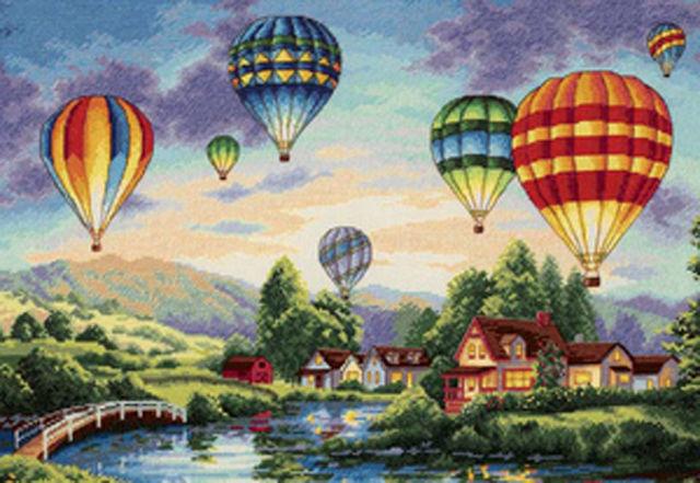 Balloon Glow Cross Stitch Pattern LOOK