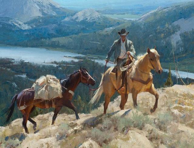 Cowboy Mountian Trail Cross Stitch Pattern LOOK