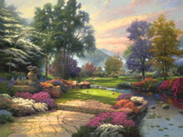 Buy Thomas Kinkade Living Waters Cross Stitch Pattern LOOK at AtomicMall.com
