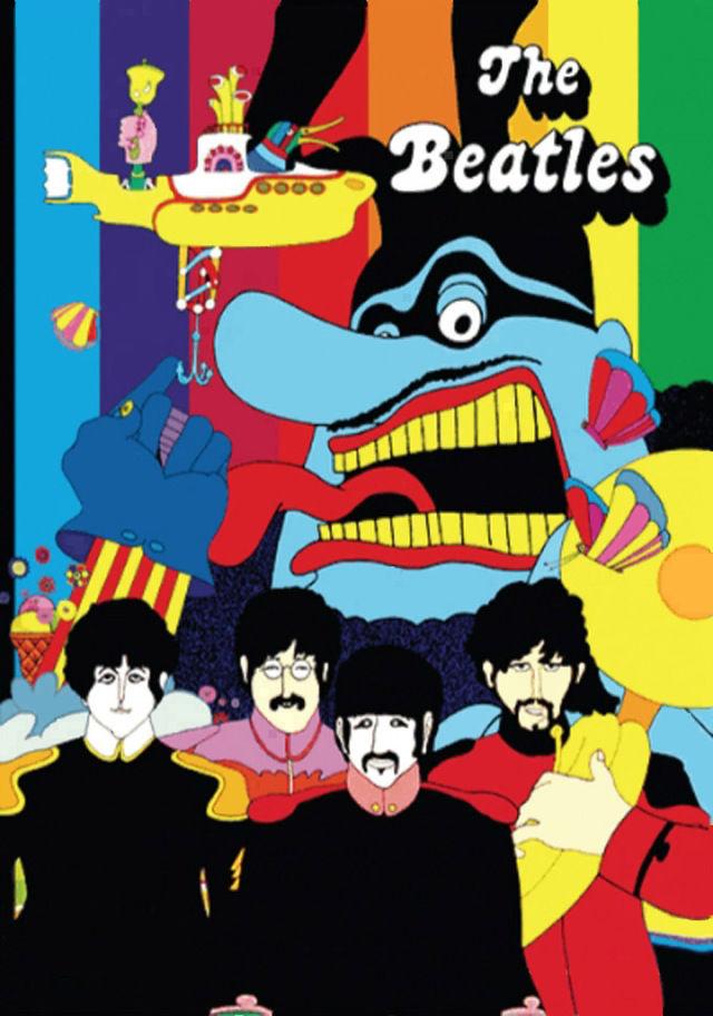 Beatles Yellow Submarine Cross Stitch Pattern LOOK