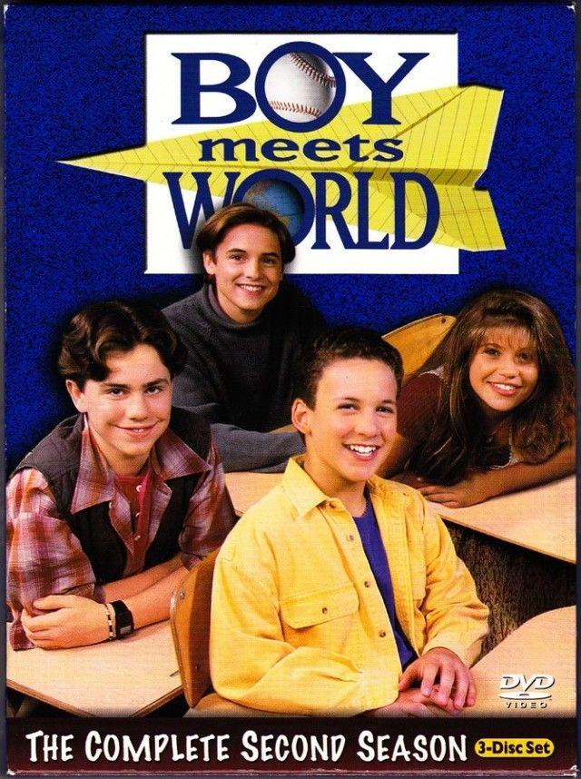Boy Meets World Complete 2nd Season DVD 2004 3 Disc Set Very Good