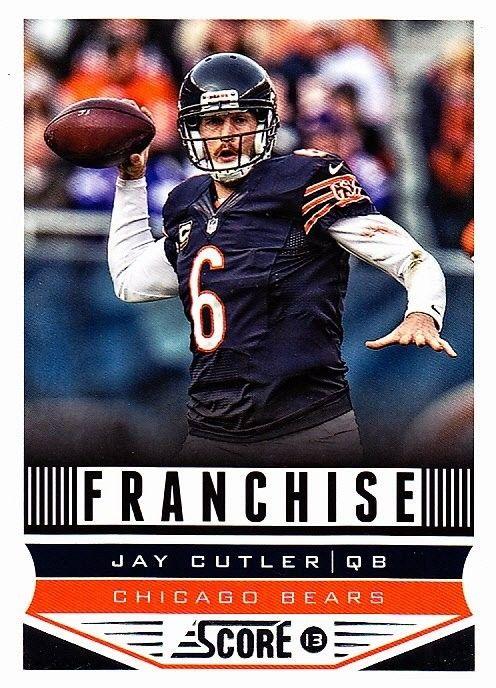 jay cutler 272 bears 2013 score football trading card