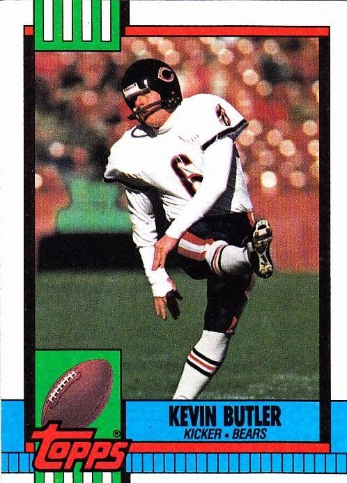 Kevin Butler 375 Bears 1990 Topps Football Trading Card