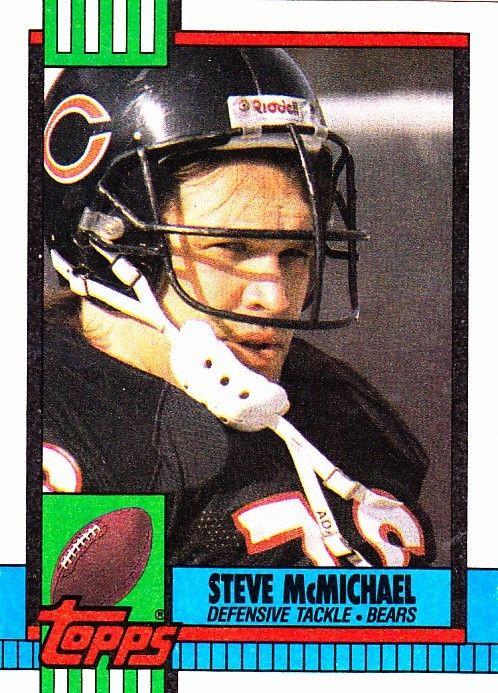 steve mcmichael 370 bears 1990 topps football trading card