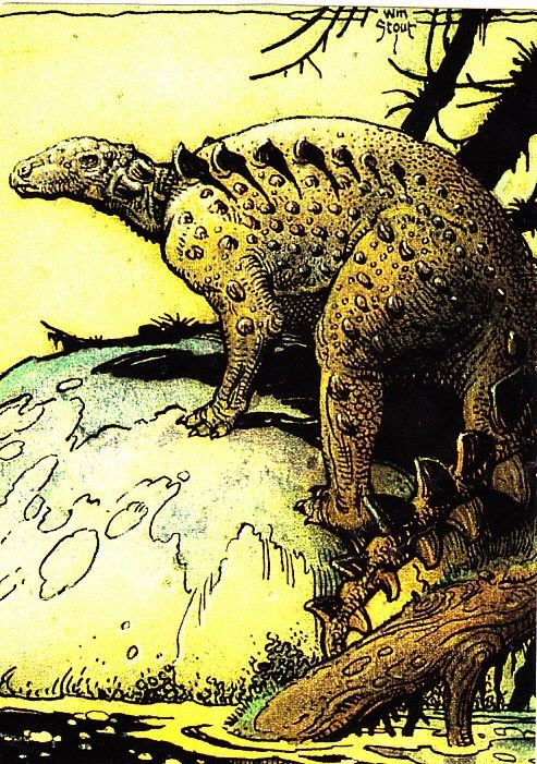 Antarctic Nodosaur 38 Stout 1993 Fantasy Art Trading Card