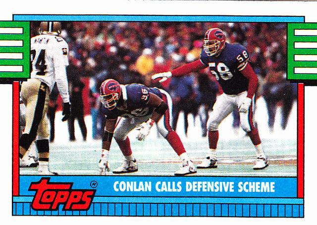 Conlan Calls Defensive 503 Bills 1990 Topps Football Trading Card