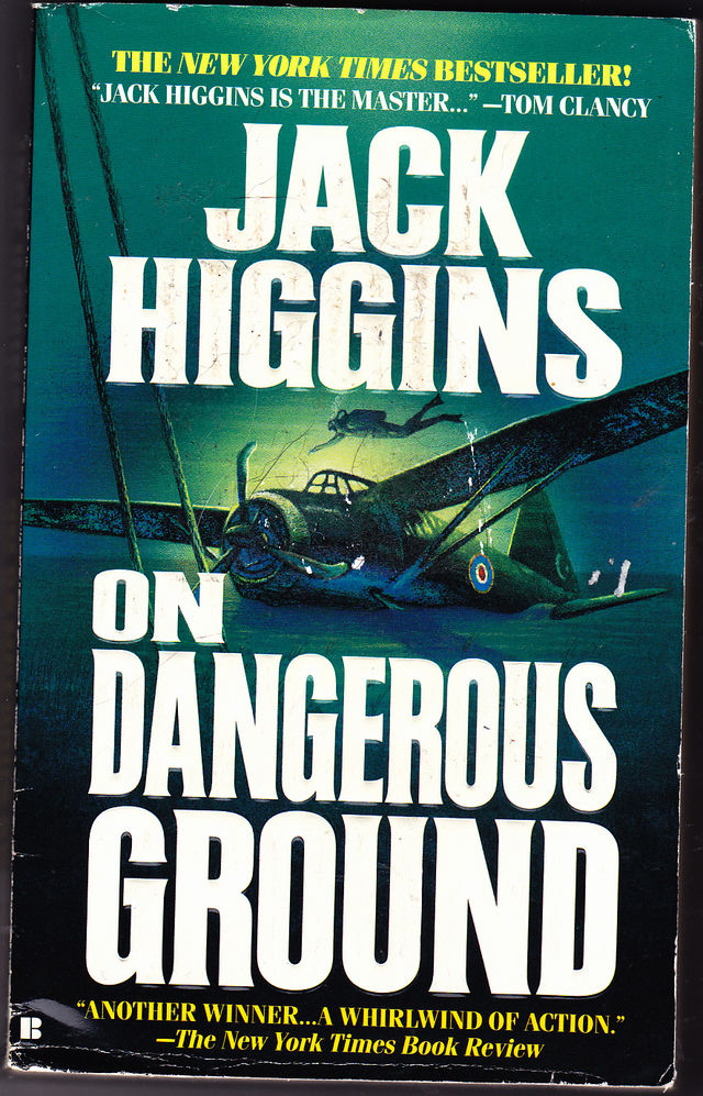 on dangerous ground by jack higgins 1995 paperback book very good
