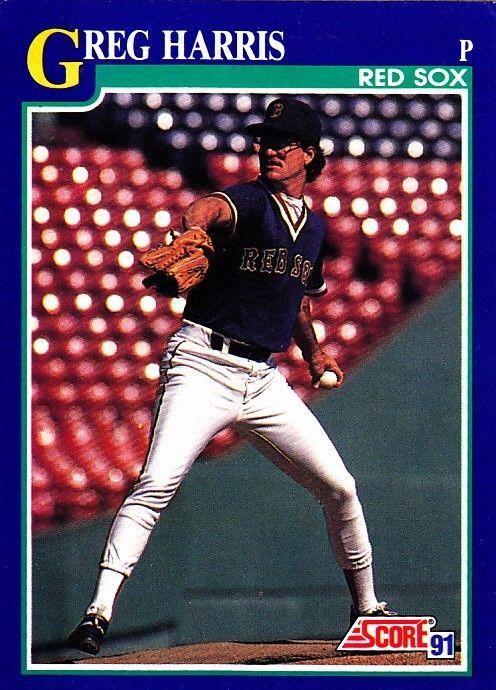 Greg Harris 109 Red Sox 1991 Score Baseball Trading Card