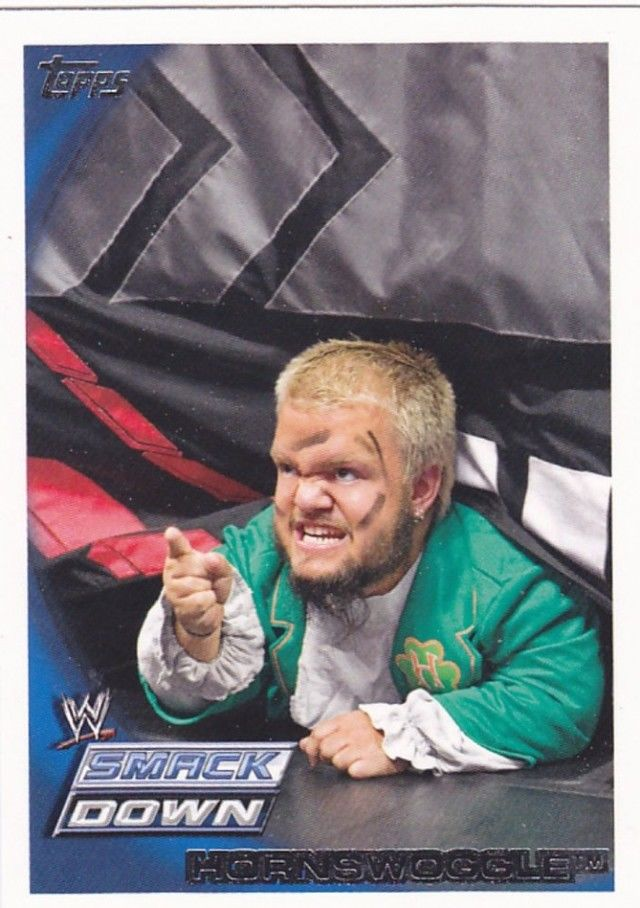 hornswoggle 44 wwe 2010 topps wrestling trading card