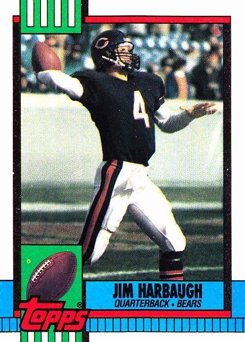 Jim Harbaugh 366 Bears 1990 Topps Football Trading Card