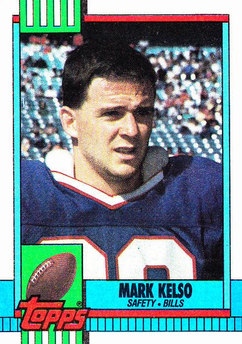 mark kelso 196 bills 1990 topps football trading card