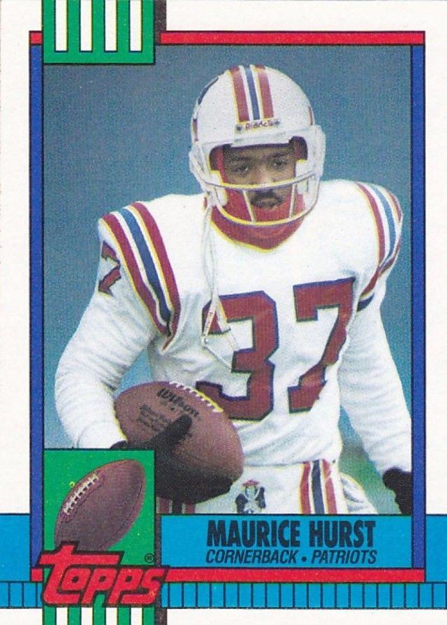 maurice hurst 429 patriots 1990 topps football trading card
