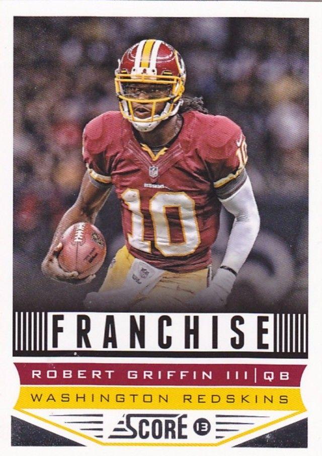 robert griffin iii 289 redskins 2013 score football trading card