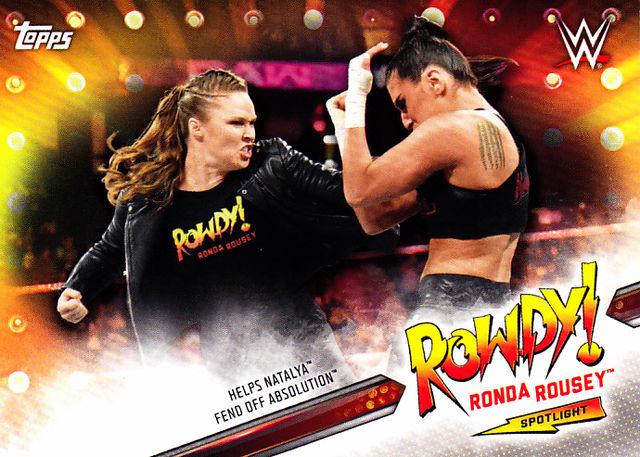 ronda rousey 9 wwe topps 2019 wrestling trading card
