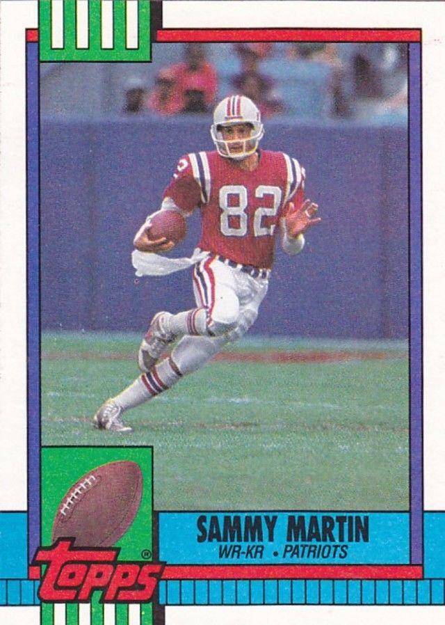 Sammy Martin 422 Patriots 1990 Topps Football Trading Card