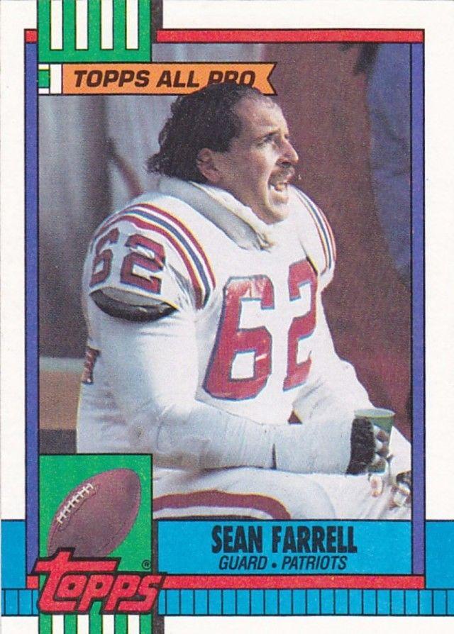 Sean Farrell 425 Patriots 1990 Topps Football Trading Card