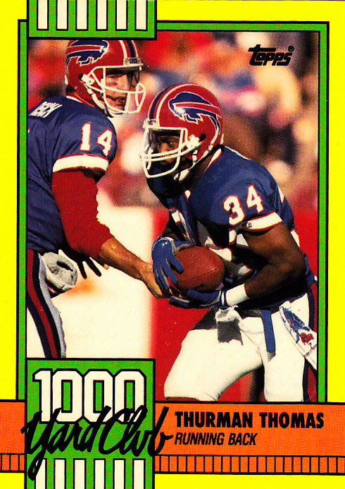 thurman thomas 11 bills 1990 topps football trading card