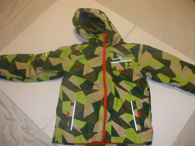 Kids 2 in 1 Kamic Vest And Jacket With Hood Size 10 Boys 100 Polyester Green