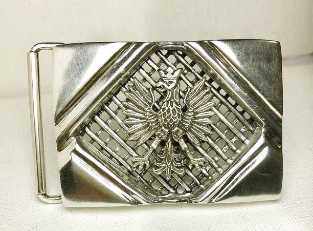 Polish Eagle Gents belt buckle sterling silver