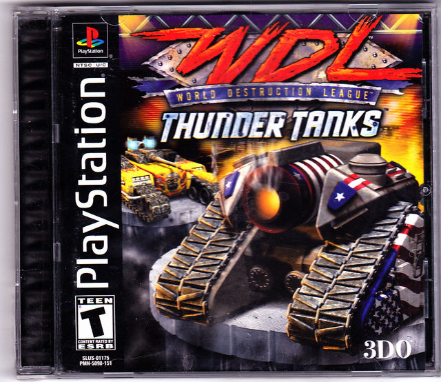 World Destruction League Thunder Tanks Sony PlayStation COMPLETE Very Good
