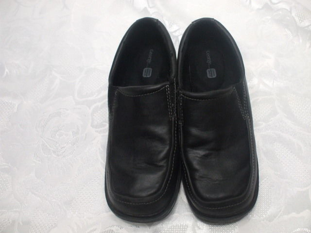 george comfort black dress shoes size 3 boys heel toe 9 5 inches