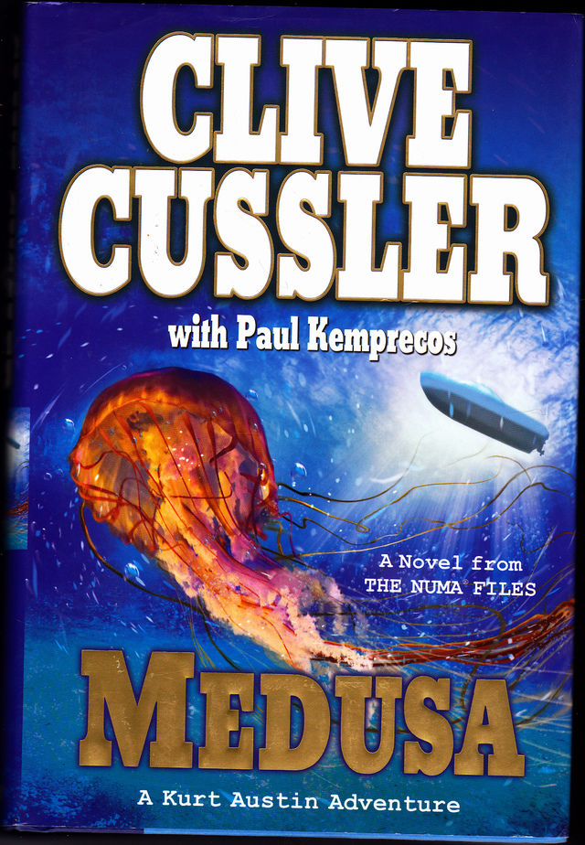numa files medusa by clive cussler 2009 hard cover book very good