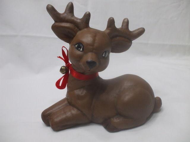 christmas brown reindeer handmade clay holidays