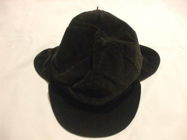 Children& 39 s Unisex Charcoal Grey Corduroy Spring Fall Winter Hat