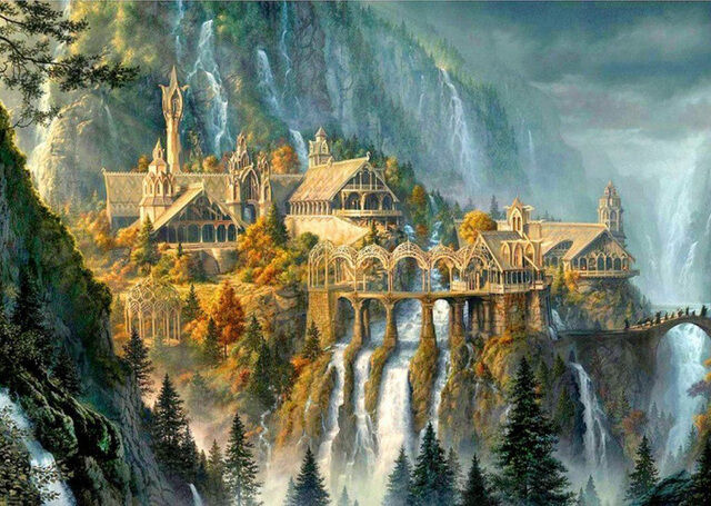 Buy The Rivendell Waterfalls Cross Stitch Pattern LOOK $4.95 at AtomicMall.com
