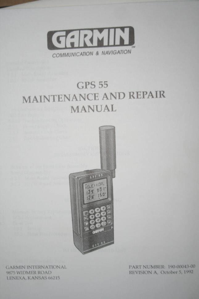 Garmin Gps 150 service Manual
