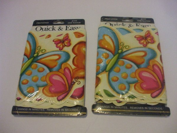2 packaged butterfly wallpaper border prepasted 5 yards each 30 feet total