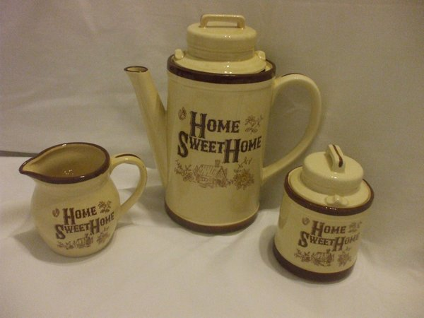 shabby chic 5 pcs porcelain coffee tea set with lids sugar bowl creamer