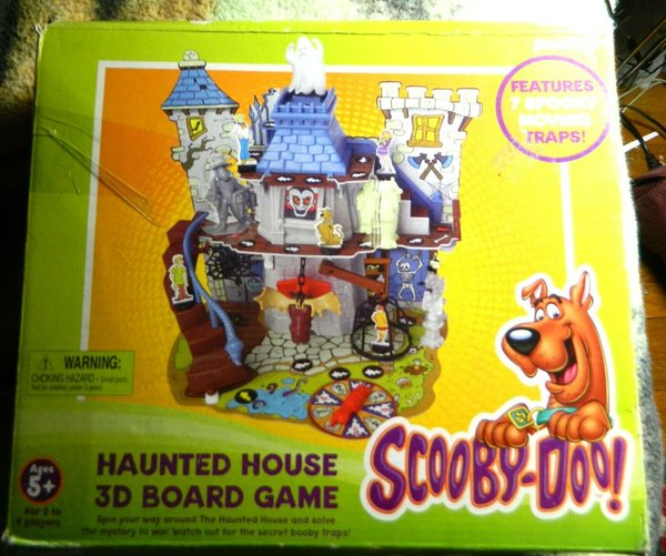Haunted House Browser Game: Scooby-Doo! Haunted House 3D Board Game-Complete