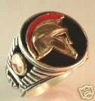SPARTAN Helmet Men& 39 s Signet ring Sterling Silver Lge