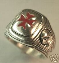 Maltese Cross Signet Ring Sterling Silver Lge